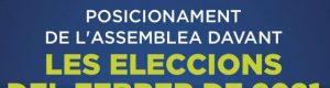 Posició de l'Assemblea davant les eleccions del 14F